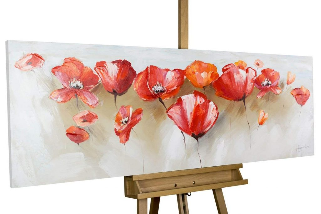 Cuadros de flores modernos abstractos