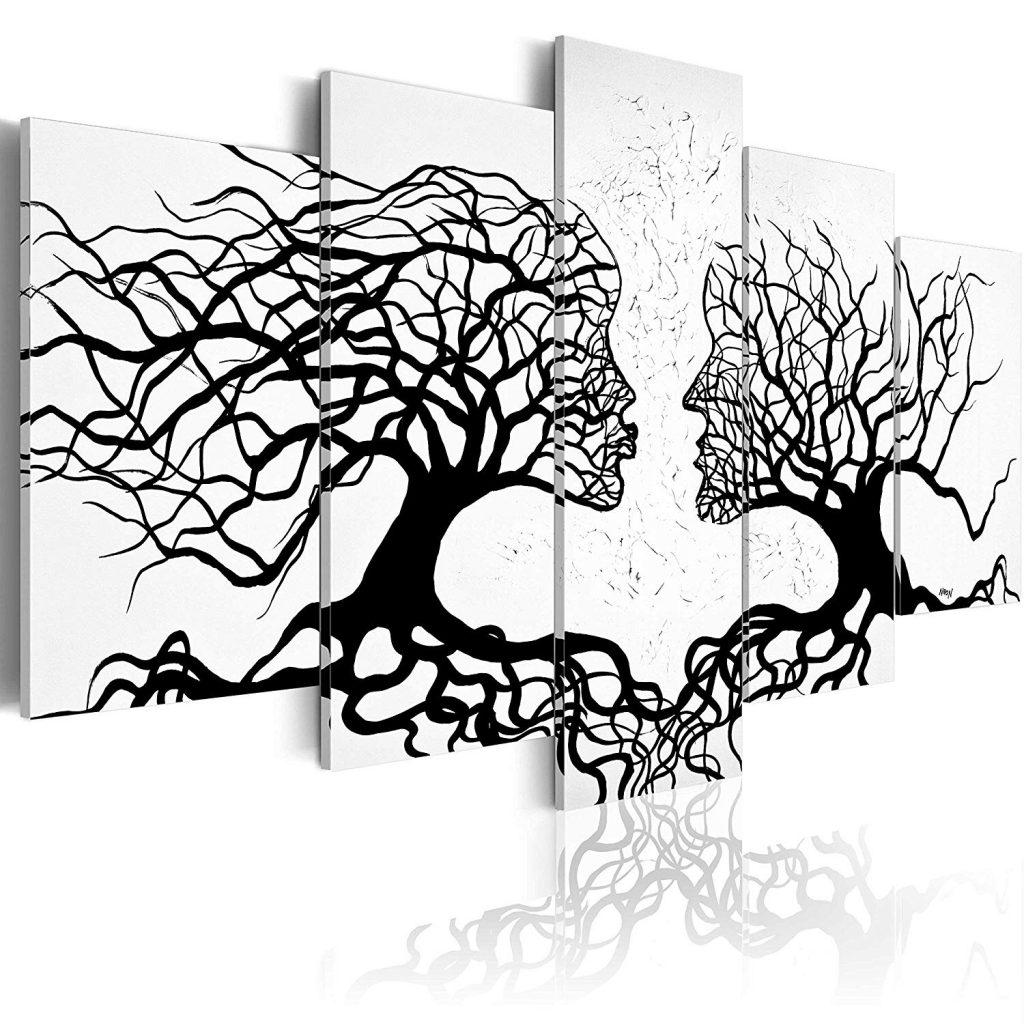 cuadros abstractos en blanco y gris