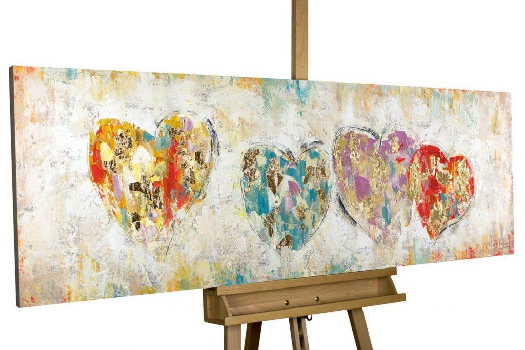 cuadros abstractos pintados a mano