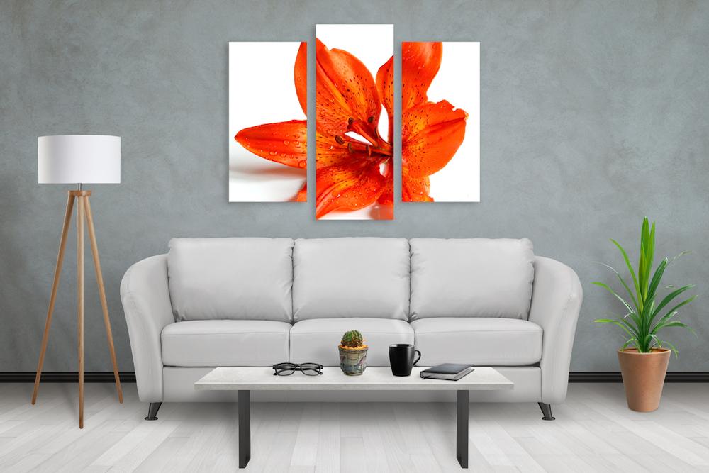 decoracion en salas modernas con cuadros