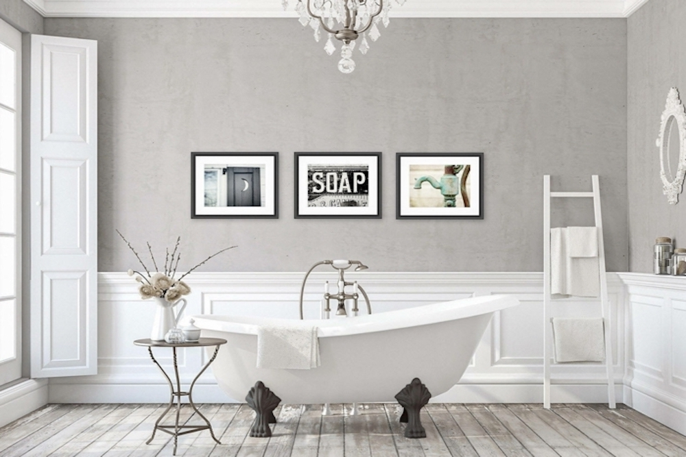 decorar con cuadros los cuartos de baño