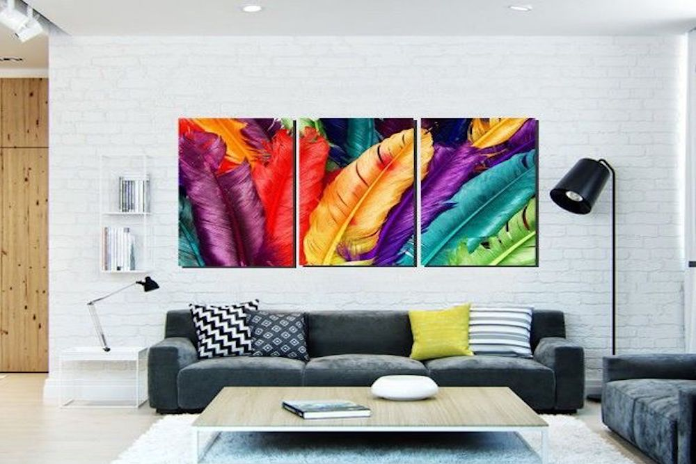 decorar salas modernas con cuadros
