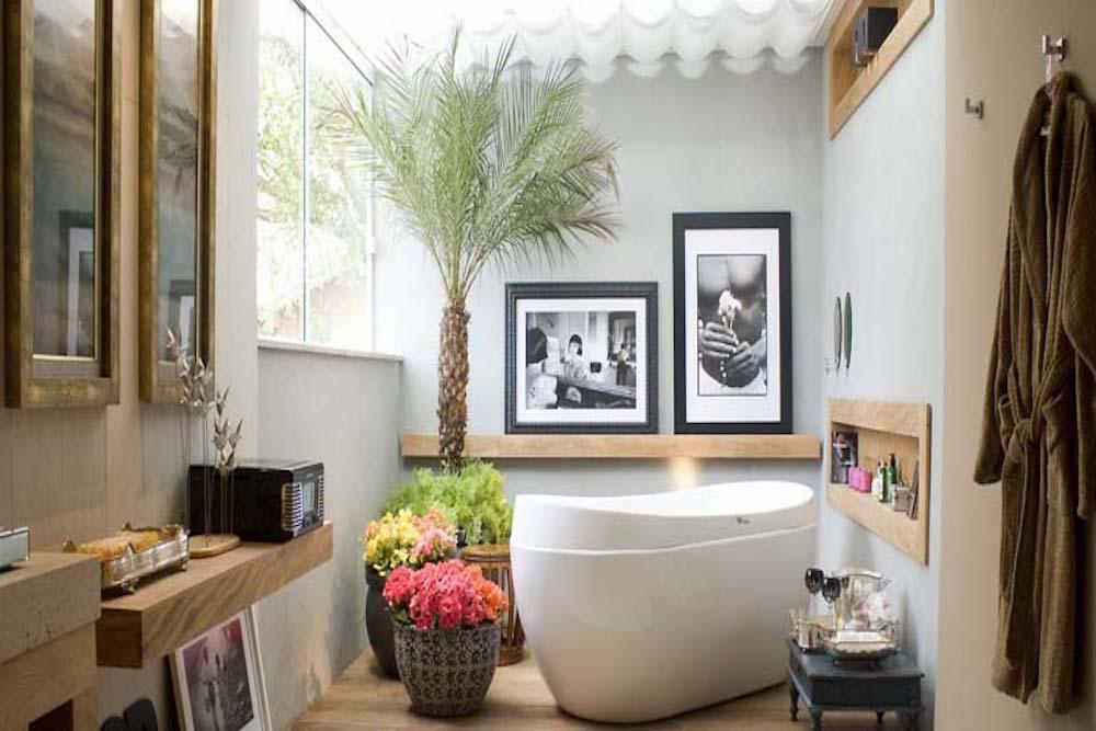 Decoracion de baño con cuadros