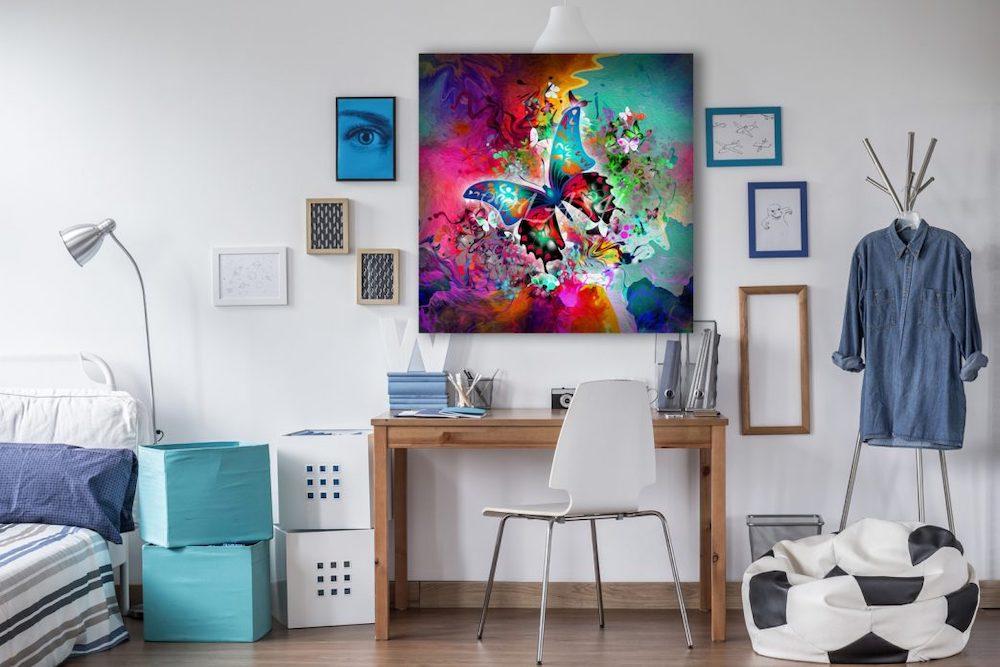 Decorar con cuadros grandes en el dormitorio